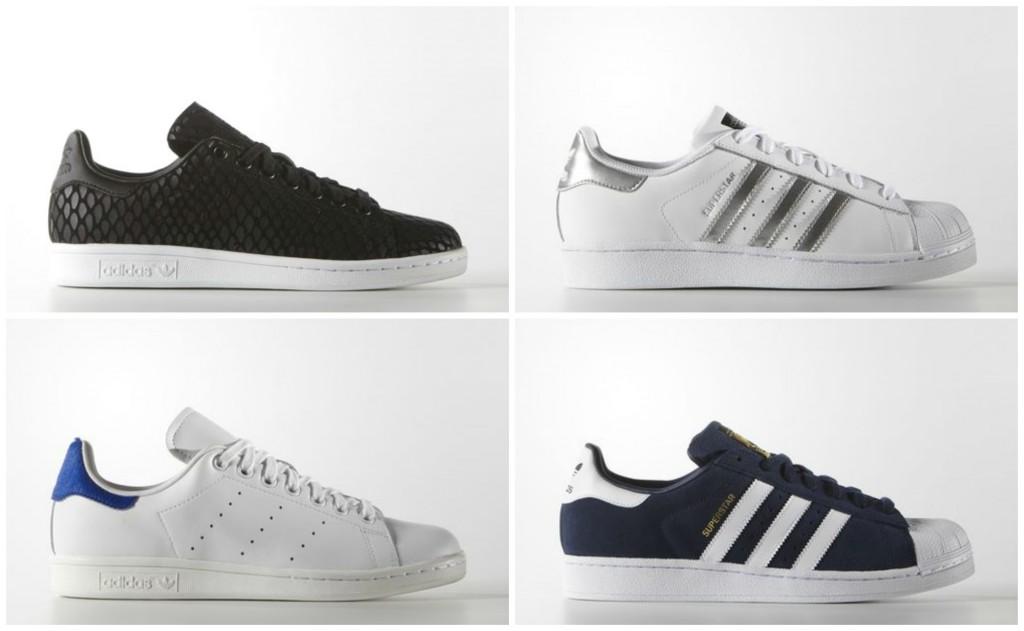 collage adidas schoenen