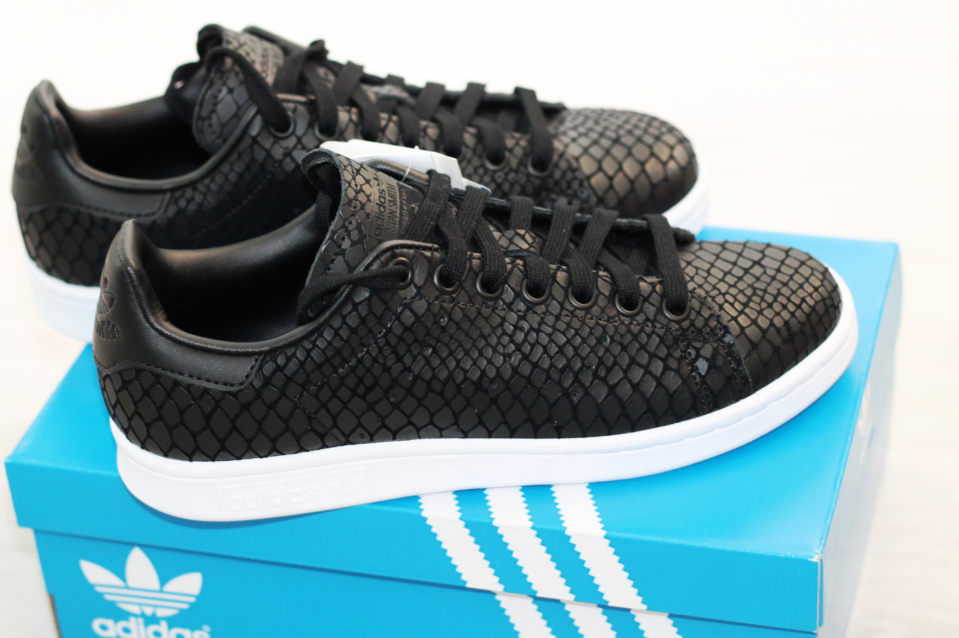 adidas stan smith snake zwart