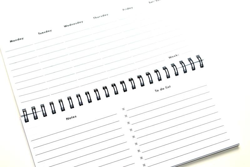 desk planner inhoud