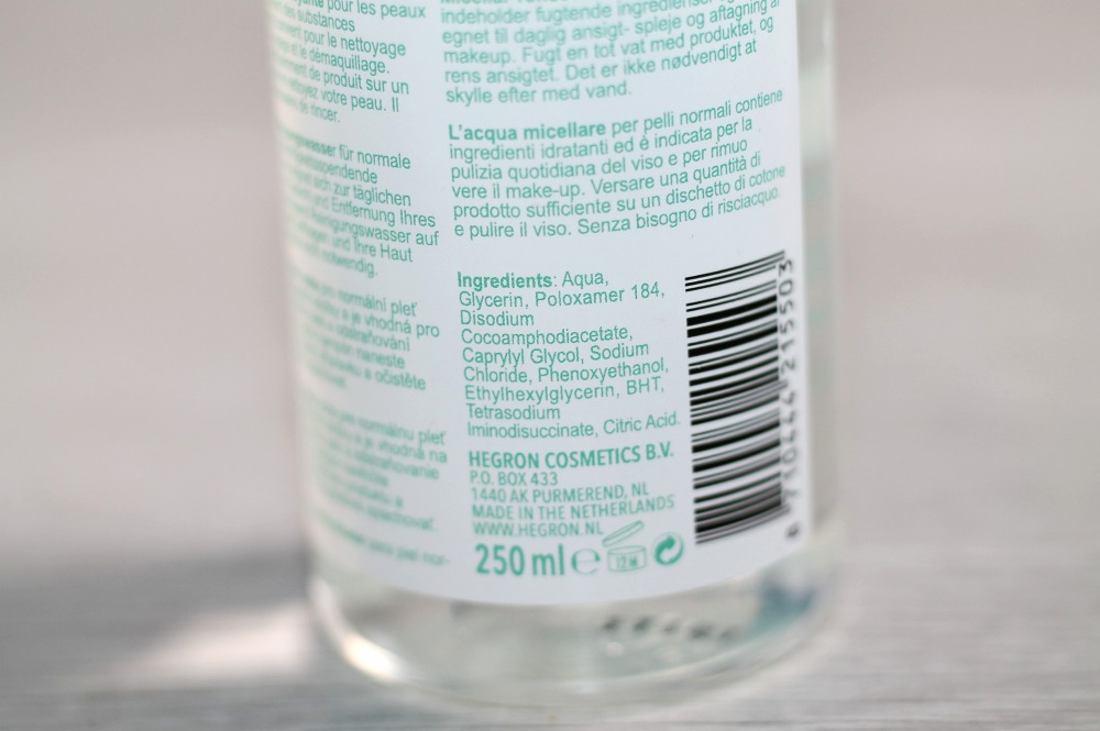ingredienten cleansing water